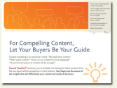 For Compelling Content, Let Your Buyers be Your Guide (free eBook)