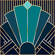 Art Deco in Teal - From Spoonflower