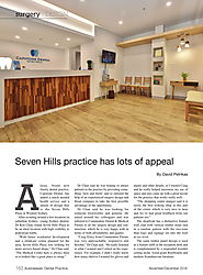"Great Start to 2019 - Capstone Dental features in 2 magazine articles - ""Seven Hills practice has lots of appeal"" and..."