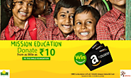 Win ₹ 25,000 Amazon India Gift Card simply by donating from as little as ₹ 10