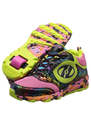 Zappos - Heelys - Race (Little Kid/Big Kid/Women's) (Pink/Green/Multi Synthetic Leather/Mesh) - Footwear