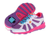 Zappos - Heelys - Dash (Little Kid/Big Kid/Women's) (White/Purple/Multi Synthetic Leather/Mesh) - Footwear