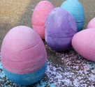 Egg Shaped Sidewalk Chalk