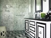 Black and White Chevron Shower Curtain on Pinterest