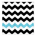 CafePress Black White Turquoise Chevron Shower Curtain