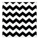 CafePress Chevron Classy Black and White Shower Curtain - Standard White