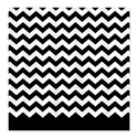 CafePress chevron pattern black Shower Curtain - Standard White