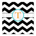CafePress Black and white Chevron Shower Curtain - Standard White