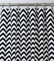 Black and White Chevron Zig Zag Drape, One Rod Pocket Curtain Panel 96 inches long x 50 inches wide