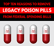 Top 10 Reasons to Remove Legacy Poison Pills from Federal Spending Bills