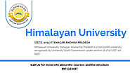 Himalayan University Distance Admission Courses & Fee Structure