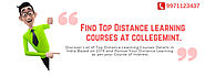 Find List Of Top Distance Courses in India at Collegemint