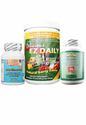 1 Month Pack - EZ Slimmer Light with Green Energy Drink Powder and Whole Body Colon Cleanse