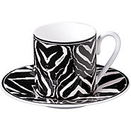 Roberto Cavalli - Zebra Coffee Cups & Saucers - Set of 6 - Kitchen Things
