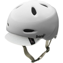 Bern Berkeley Summer Gloss Flower Graphic Helmet with Visor, White, Small