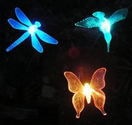 Esky® Solar Powered Outdoor Hummingbird, Butterfly & Dragonfly Solar Garden Stake Light--with chameleon multi-color c...