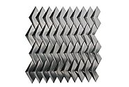 Stainless Steel 3D Herringbone Brushed Mosaic - Tilesbay.com