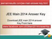 JEE Main 2014 Answer Key Published Check at jeemainresults.com