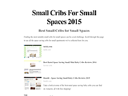 Small Cribs For Small Spaces 2015