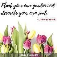 """At about this time every year, we always think back to this quote from Luther Burbank, 'Don't wait for someone to br..."