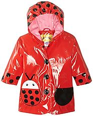 Kidorable Little Girls' Ladybug PU Raincoat