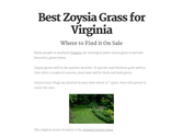 Best Zoysia Grass for Virginia