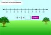 Math Games: Fruit Shoot Number Line Subtraction