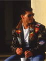 The Leather Factory | Top Gun A2 Jet Fighter Bomber Navy Air Force Pilot Leather Jacket
