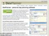 DevPlanner - personal day planning software.