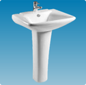 Basins With Semi Pedestals | Wash Basins With Semi Pedestals | Basin With Semi Pedestal