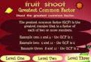 Math Games: Prime and Composite Numbers- Fruit Shoot