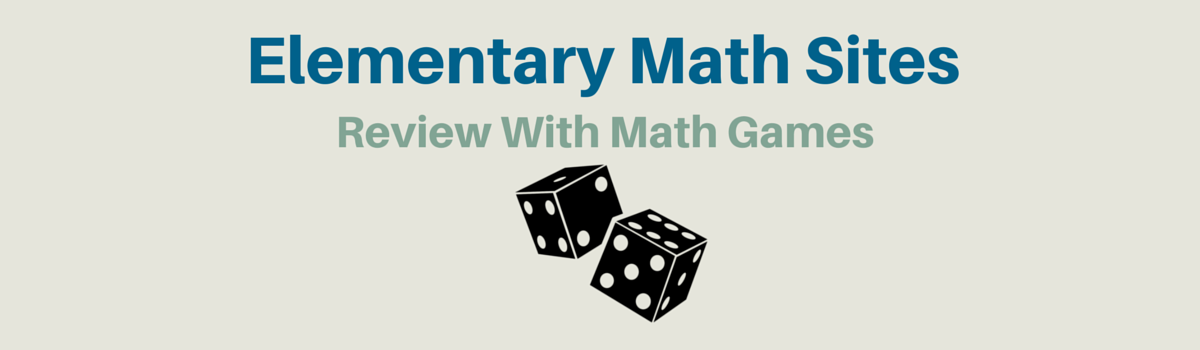 Headline for Elementary Review with Math Games
