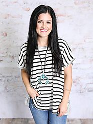 Striped and Ready Trendy Women's Tops | Southern Honey Boutique