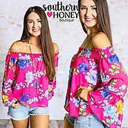 So fun and so cute! This off shoulder top is perfect for the summer!