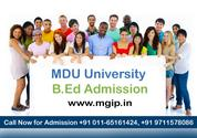 MDU University B.Ed Admission