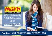 MDU University B.Ed Admission 2014