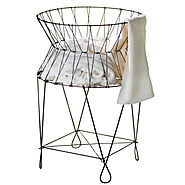 Wire Laundry Basket Hamper