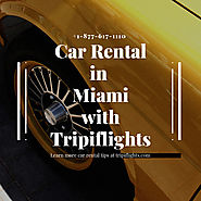 Rental Car at Miami International Airport | Cheap Car Rental at (MIA)