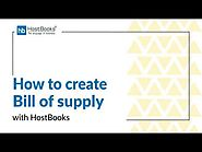 HostBooks GST Tutorial #17 How to create Bill of Supply