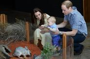 Prince George meets the Easter Bunny