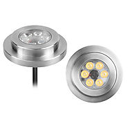 LED Pool Light, Surface Wall light, DC12V 6x1W IP68, Stainless Steel Body - lampviews