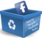 16. Recycle Facebook posts in different formats: links, images or just text.
