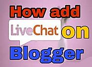 How add live chat widget in blogger - Max Blogging