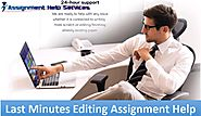 Last Minutes Editing Assignment Help