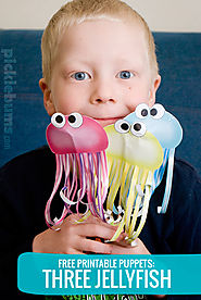 Three Jellyfish Printable Puppets! - picklebums.com