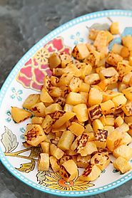 Sea Salt & Olive Oil Roasted Turnips (Rutabaga) | The Kitchen Magpie