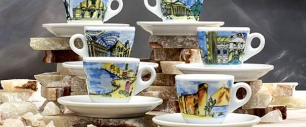 Headline for Italian Espresso Cups and Saucers