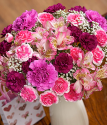 Pink Celebration | Pink And White Flowers | Bunches.co.uk