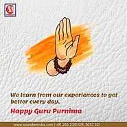 We learn from our experiences to get better every day. Happy Guru Purnima.