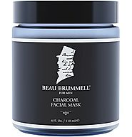Men's Face Mask by Beau Brummell for Men | Best Charcoal Mask for Men | Detoxifying Facial Treatment with Kaolin Clay...
